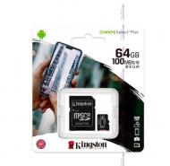 Карта памяти Micro SDHC 64 GB  Kingston  Canvas Select Plus 10